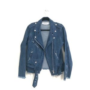 Marques' Almeida Frayed Denim Biker Jacket